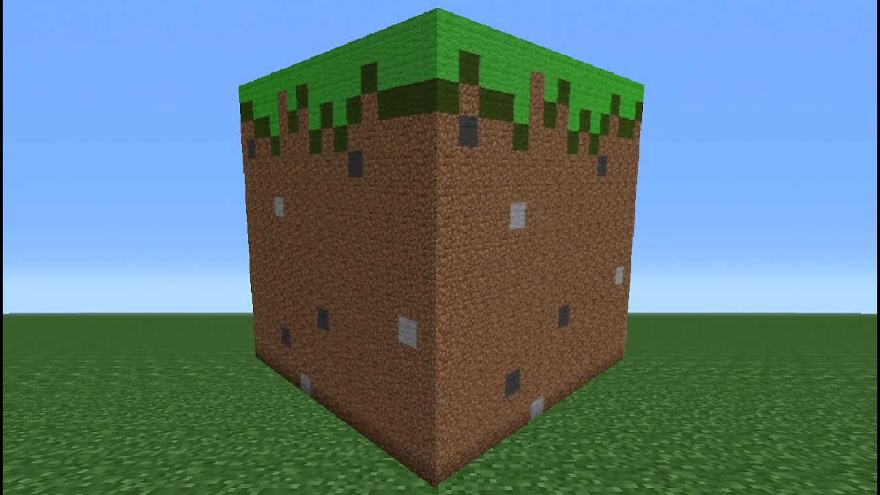 Minecraft Tutorial: How To Make A Grass Block Statue - YouTube