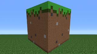 Minecraft Tutorial: How To Make A Grass Block Statue