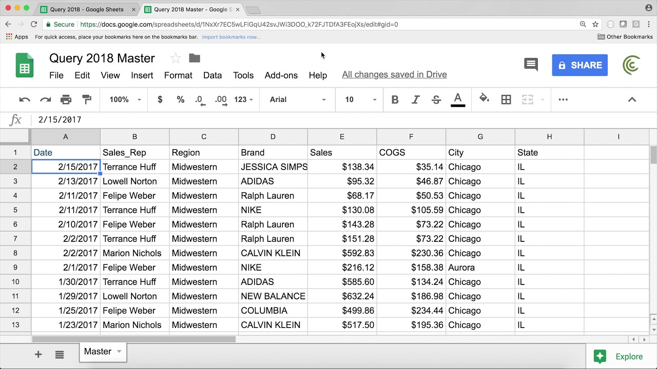 Google Sheets Importrange From Another Tab