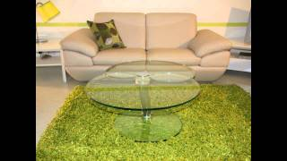 2 Leaf Contemporary Extending Glass Coffee Table
