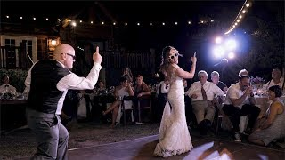 Video CRAZY Father Daughter Dance with surprise cameo from Mother of the Bride | California Wedding download MP3, 3GP, MP4, WEBM, AVI, FLV Agustus 2018