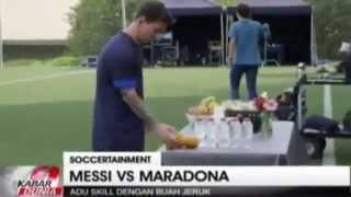 Messi Vs Maradona Adu Juggling Jeruk, Siapa Yang menang ? ~ Berita Terkini 20 November 2015