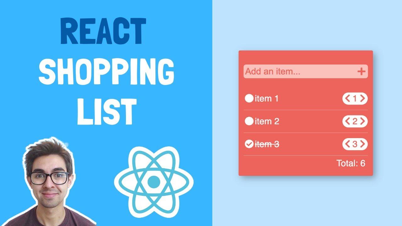 How to Build Basic Shopping List App using React Hooks