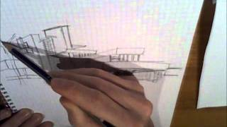 Fallingwater House Frank Lloyd Wright speed draw