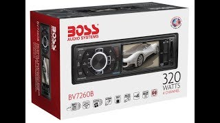 BOSS AUDIO BV7260B Single-DIN 3.2 inch Screen  | Car Audio Review Spec