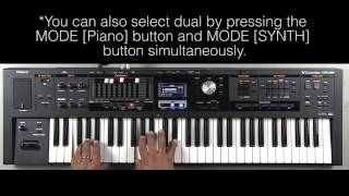 Roland VR-09 - How to Create a Layer (Piano-String)