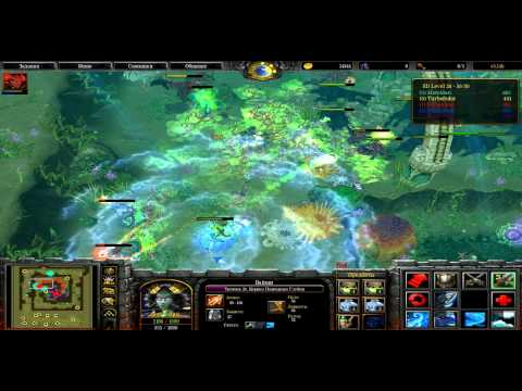 Warcraft 3 tft Spiral Defence cooperative RUS