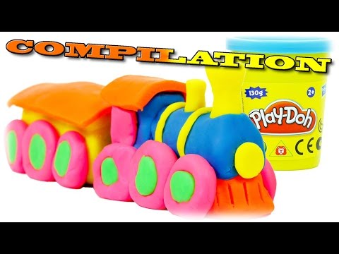 Play Doh Train COMPILATION We Make from PlayDough Thomas and Friends Toys Trains for Children
