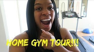 Our new home gym tour  vlog #118 kishaplus4