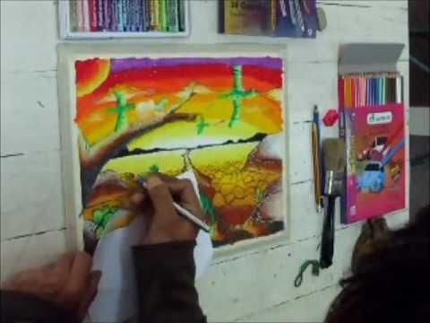 เทคนิคการวาดภาพสีชอล์กbyเก่งศิลปะ.wmv