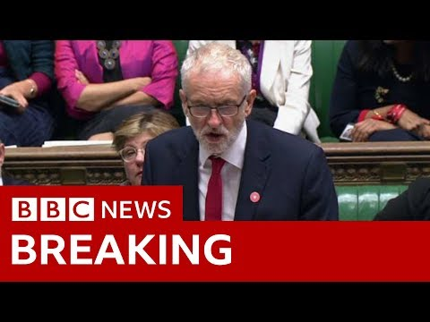 "Labour leader Jeremy Corbyn : ""Let this bill pass… then we will back an election""- BBC News"