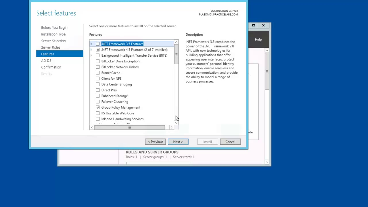 Install Active Directory Domain Services in Windows Server 2012 R2