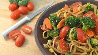 Pasta Salad Recipe Asian Style - Homemade Sesame Dressing | Radacutlery.com