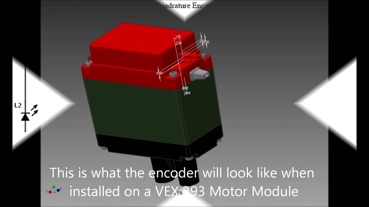 VEX Integrated Quad Encoder: 2014-15 VEX CAD Challenge Entry - YouTube