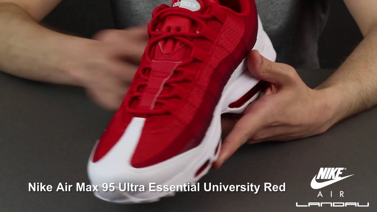 sale newest collection buying cheap NIKE SHOES MENS AIR MAX 95 ULTRA ESSENTIAL UNIVERSITY RED WHITE GYM RED  TEAM RED