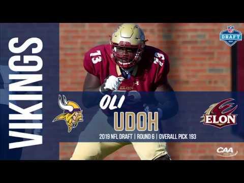 online retailer b8c80 940ca 2019 NFL Draft 193rd pick - Elon's Oli Udoh