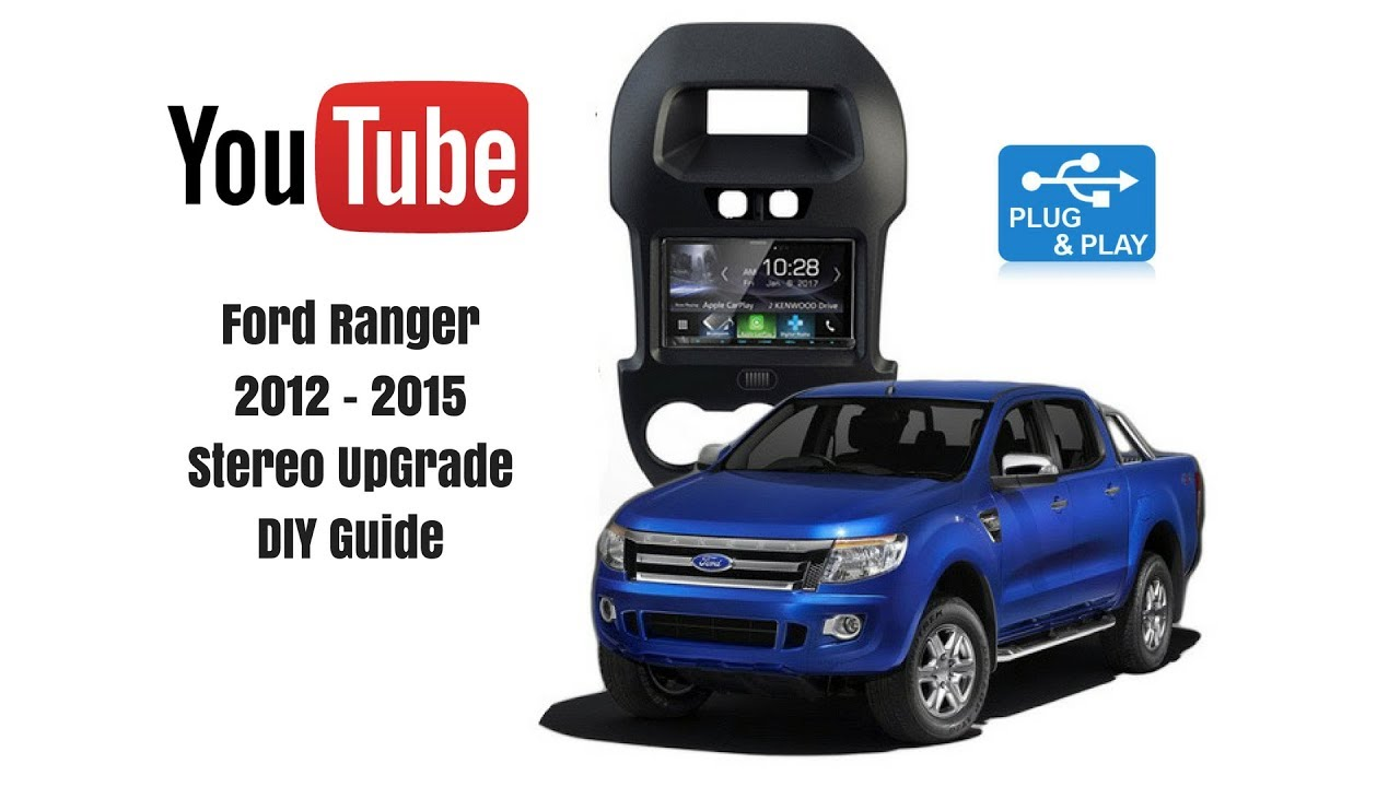 medium resolution of how to replace stereo ford ranger px1 2012 to 2015 kenwood ddx9017dabs