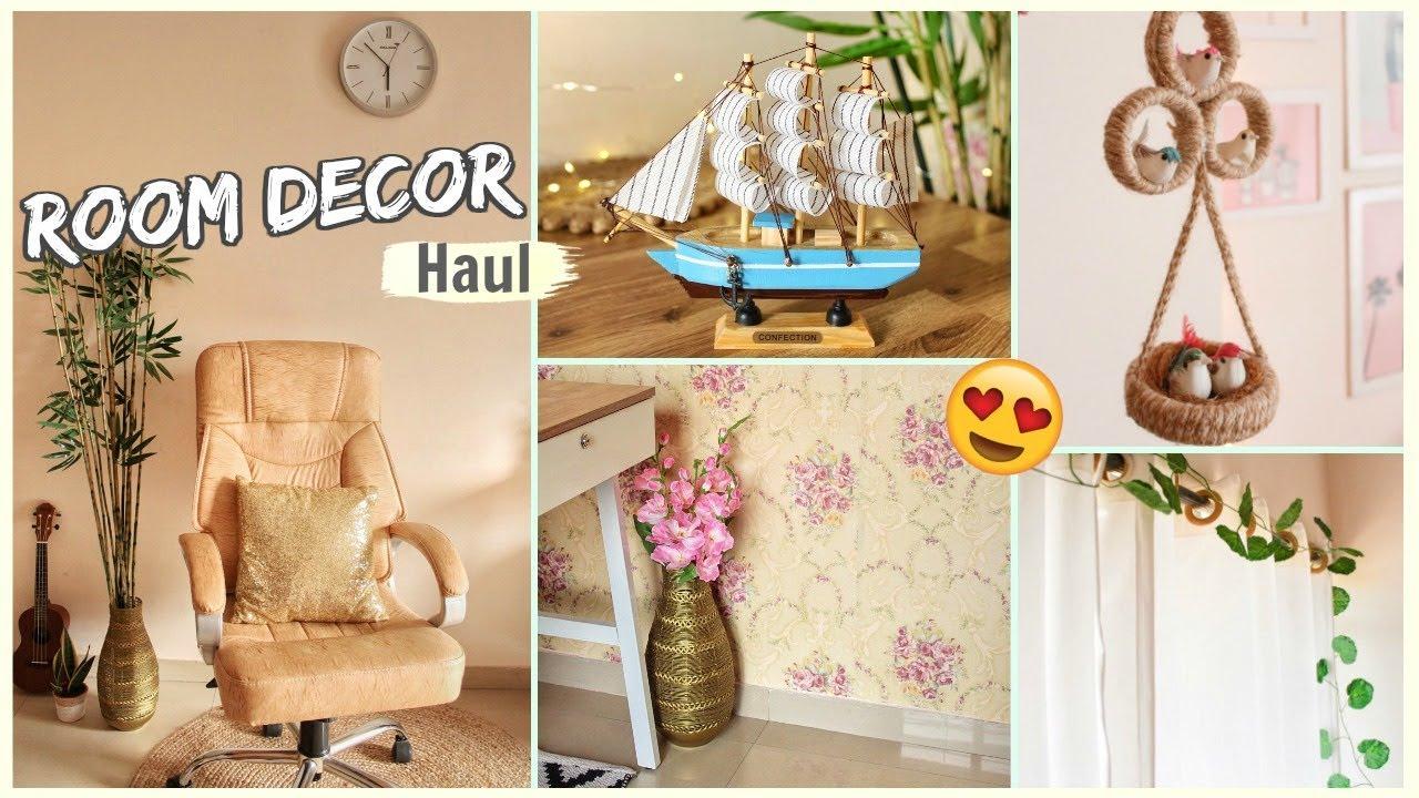 Home Decor Haul Shopping Room Decor Items From Amazon Flipkart Shein Cellbell Youtube