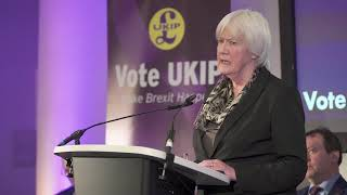 Liz Phillips speaks at UKIP European Parliamentary Elections Press Conference
