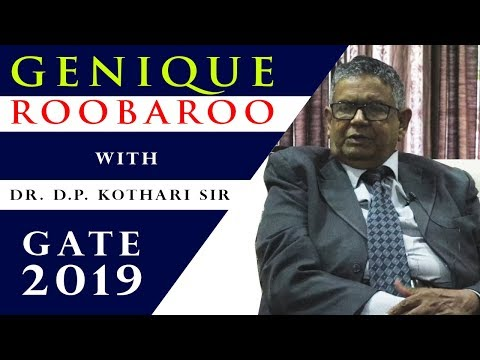 Genique Roobaroo with Dr. D.P. Kothari Sir | Guidance to GATE 19 Aspirants