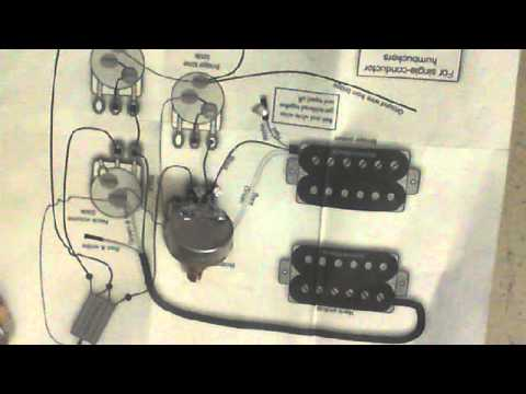 NUMBER 3 VIDEO HOW TO WIRE UP A CHINESE GUITAR 2 HUMBUCKERS, 2 VOL, 2 TONE 13 WAY  YouTube