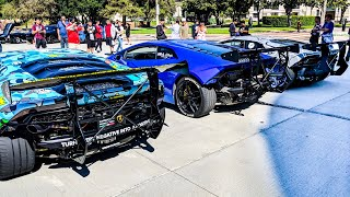 LAMBORGHINI BIG WANG GANG CHAOS AT CARS AND COFFEE PASADENA!