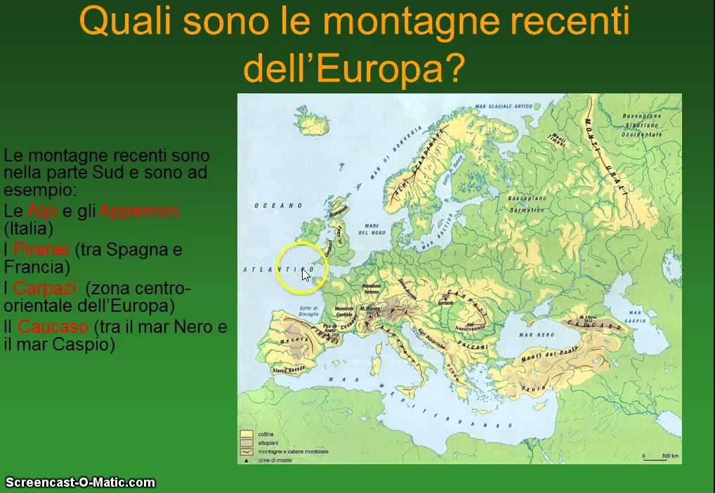 Cartina Europa Fisica.Europa Fisica Parte Prima Youtube