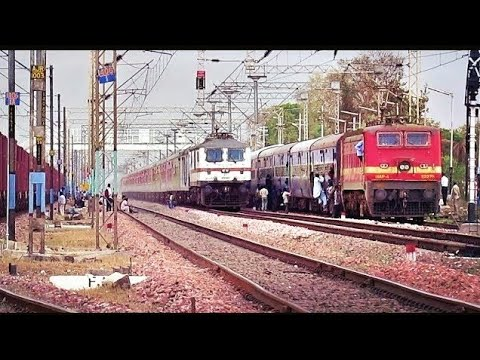 Back To Back High Speed Overtakes By Elite Trains || Poorva Express Thrashed..!!