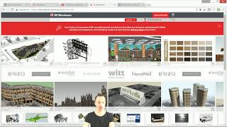 Как использовать материалы из 3D Warehouse в SketchUp