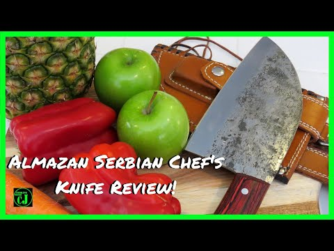 ALMAZAN  SERBIAN CHEF KNIFE | ALMAZAN KNIFE REVIEW | ALMAZAN CUTLERY | MEATHEADKNIVES.COM