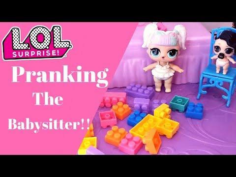L.O.L Surprise Dolls Get a Babysitter and PRANK Her!