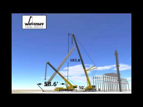 3D Lift Plan video by Wagstaff Crane Service