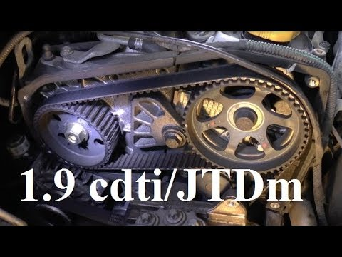 How To Replace Timing Belt - 1.9 Cdti/JTDm - Z19DT, Z19DTL - Astra, Zafira, Vectra, Alfa,  Cambelt