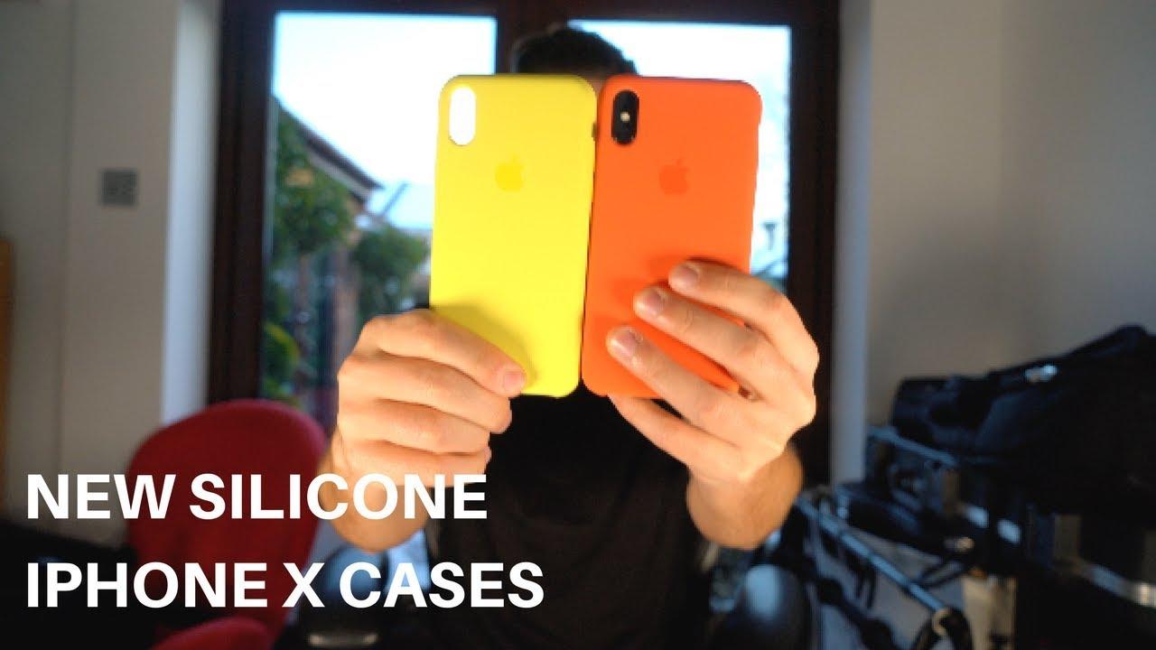promo code 7fc9c 42adf New iPhone X Apple Silicone cases (Spicy Orange & Flash)