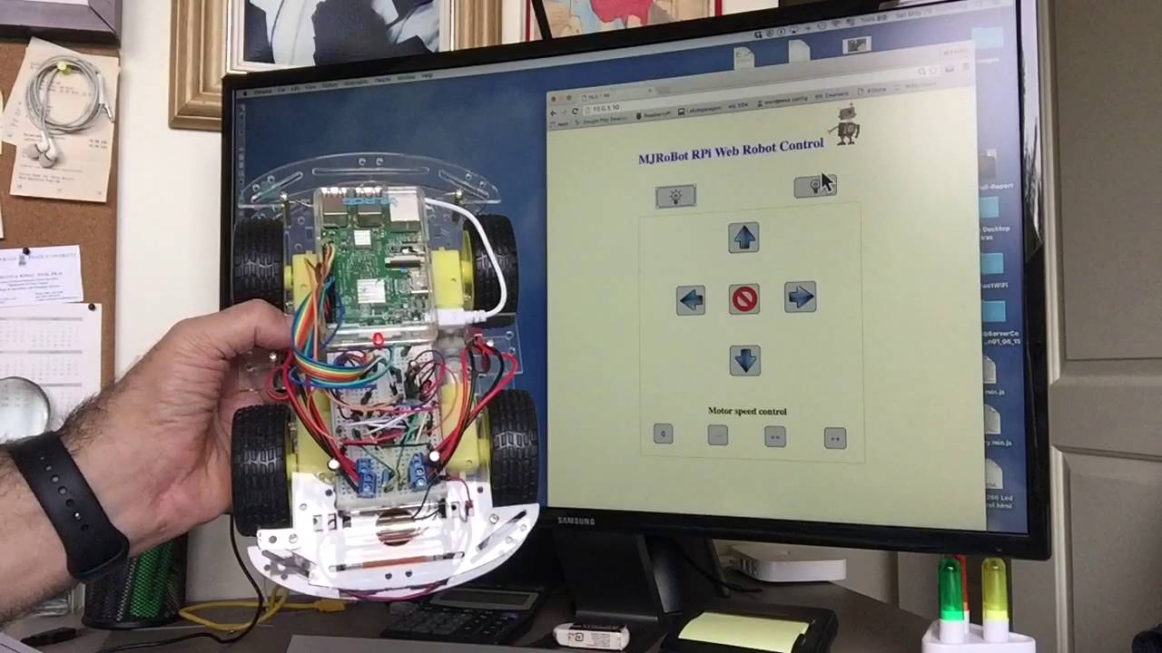 IoT - Controlling a Raspberry Pi Robot Over Internet With