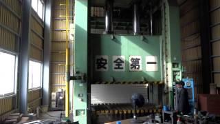 アミノ 油圧プレスPF400K 試運転3