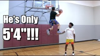 "5'4"" Dunker Andrew McFly Can WINDMILL!! + Tyler Currie/ Elijah Bonds"