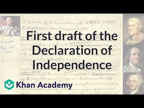 First draft of the Declaration of Independence | US History | Khan Academy