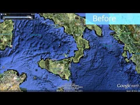 Global Seafloor Update in Google Earth