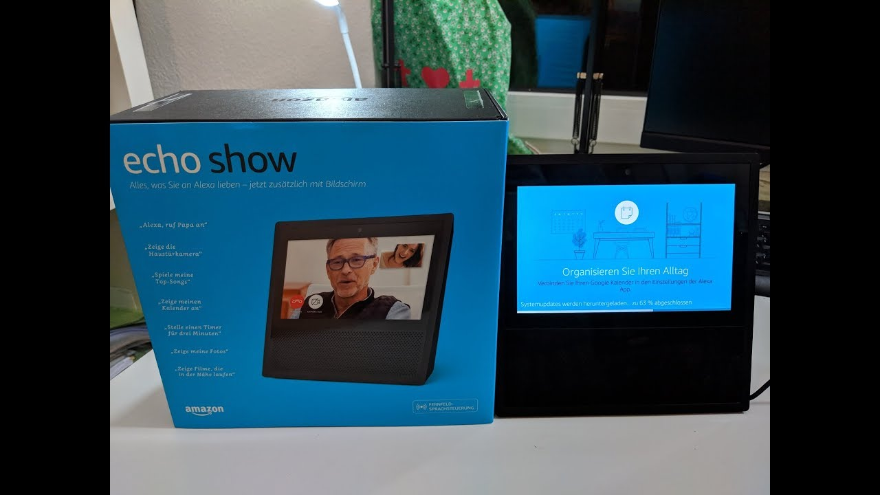 amazon echo show unboxing installation deutsch youtube. Black Bedroom Furniture Sets. Home Design Ideas