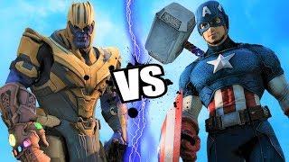 Captain America (Thor's Hammer) vs THANOS (Endgame) - Epic Battle