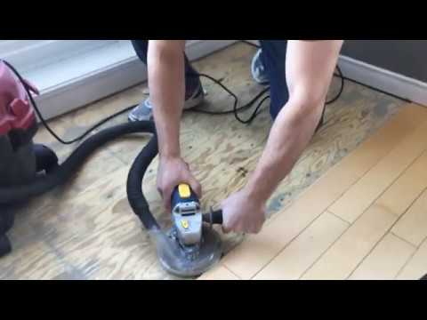 How to remove thinset from plywood