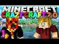 "Minecraft Crazy Craft 2.0 ""WE ARE BACK!"" Modded Survival #1 w/Lachlan & Preston"