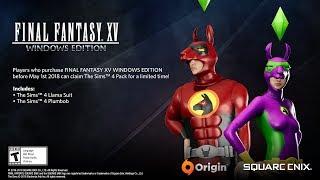 FINAL FANTASY XV WINDOWS EDITION: The Sims 4 Pack Bonus