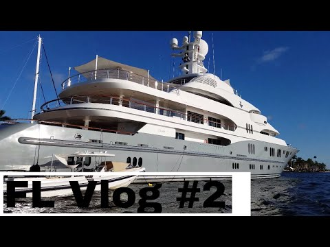 Ft. Lauderdale Boat Show. Mega Yachts. Trying to turn a family trip into a surf trip. FL Vlog CH 2