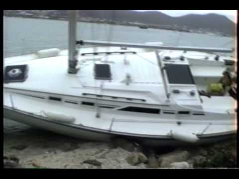Orient Beach post Bertha July 1996 St, Maarten.wmv
