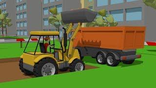 #Excavator and Truck_Dump Truck and Road Machines_Street Vehicles | Maszyny Budowlane Bajka.