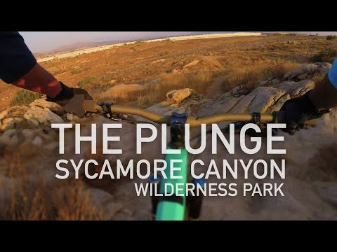 """Mountain biking at Sycamore Canyon Wilderness Park - """"The Plunge"""" MTB Trail"""