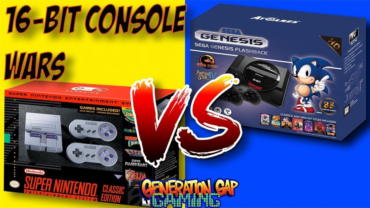 Snes Classic Edition Vs Sega Genesis Flashback Hd The Mini 16 Bit