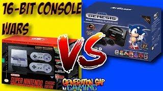 SNES Classic Edition vs Sega Genesis Flashback HD - The Mini 16-bit Console Wars